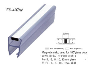 White Magnetic Glass Door Sealing Strip pictures & photos