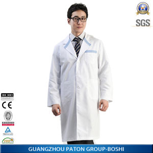 Doctor′s Polycotton 65/35 White Medical Uniform Coat pictures & photos