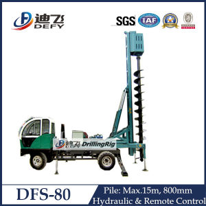 Max 15m Dfs-80 Hydraulic Auger Drilling Machine pictures & photos