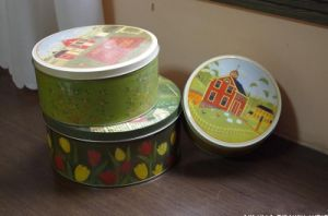 Scandinavian Style Set of Three Candy Storage Gift Tin Boxes pictures & photos