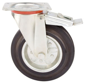Rubber Caster with Steel Core, for Waste Bin Container pictures & photos
