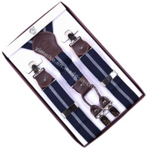 High Quality Men Stripes Suspender Leather Fittings pictures & photos