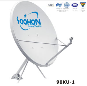 90cm China Best Satellite TV Antenna Dish Flat pictures & photos