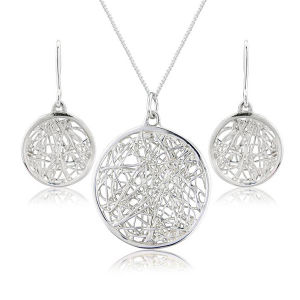 Oval 925 Sterling Silver Jewelry Set Micro Pave Setting pictures & photos