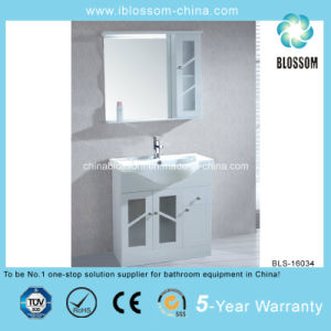 Two Doors Metal Legs Floor Mounted Bathroom Cabinet (BLS-16034) pictures & photos