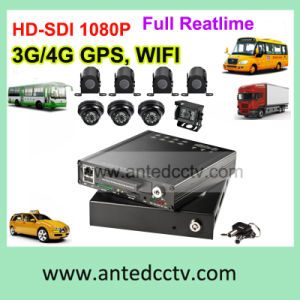 4/8 Channel 1080P Vehicle Video Surveillance Tracking & Monitor System with Bus DVR and Camera pictures & photos
