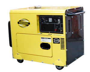 3kVA Sound-Proof Portable Diesel Generator (KDE3500T) pictures & photos