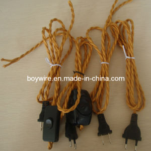 Plug Lighting Braided Electric Wire with UL/VDE pictures & photos