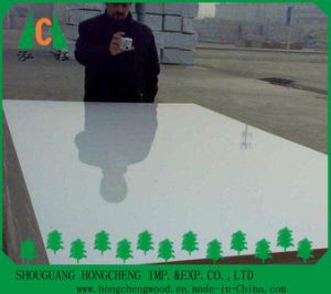 18mm High Quality Waterproof Melamine Best Price White UV MDF Board pictures & photos