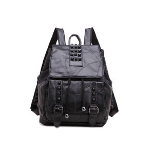 2016 Wholesale High Quality Fashion Stylish Genuine Leather Women Backpack pictures & photos