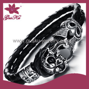 Charming Men′s Leather Bracelet (2015 Stlb-002) pictures & photos