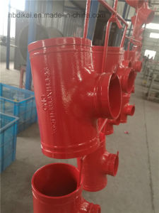 """4""""*3"""" Grooved Reducing Tee with FM and UL Approved, Grooved Fitting pictures & photos"""