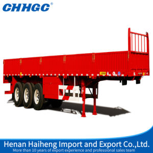 High Strength Steel 3 Axles Side Wall Truck Semi-Trailer pictures & photos