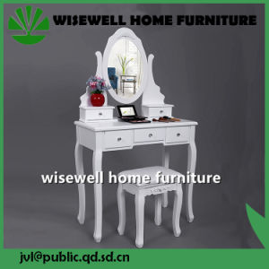 Wooden Dressing Mirrored Table with Stool (W-HY-066R) pictures & photos