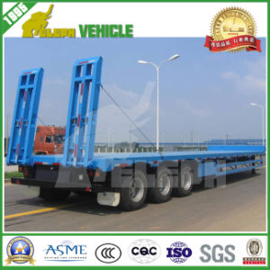 Heavy Load 70t Truck Trailer Lowboy Low Bed Trailer pictures & photos