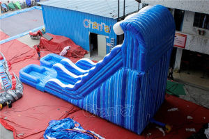 Wave Double Lane Inflatable Water Slide Chsl524 pictures & photos