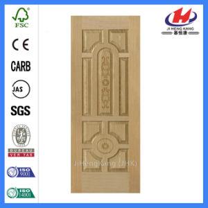 Double Door Design Commercial Solid Wood Veneer Door (JHK-018) pictures & photos