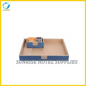 High Quality Leatherette Service Tray for Hotel pictures & photos