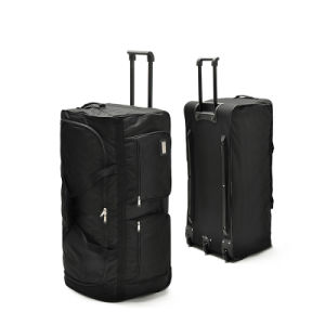 Men Black Duffle Luggage Duffel Travel Trolley Bag with Wheels pictures & photos