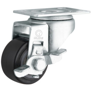 Medium Duty Polyurethane Wheel Caster (Black) (Flat Surface) (G2204) pictures & photos