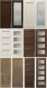 Modern Readymade Simple Wood Veneer Flush Interior Door with Glasses pictures & photos