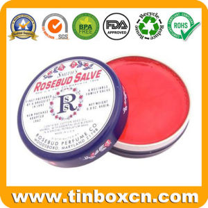 Round Cosmetic Metal Tin Can for Lip Balm pictures & photos