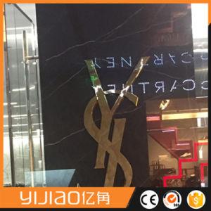 Decorative Golden Titanium Mirror Fabricated Stainless Steel Logo pictures & photos