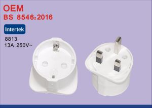 High Quality BS EU to 1 Port UK Travel Power Plug Adapter Converter with 2 Port USB pictures & photos
