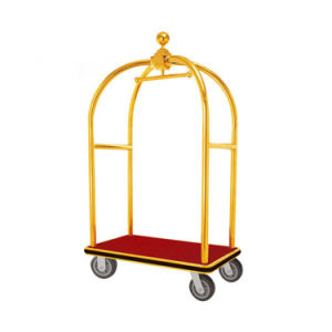 Stainless Steel Hotel Luggage Baggage Plate Cart for Sale pictures & photos