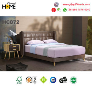 Home Furniture New Elegant Design Modern Leather Bed (HC872) pictures & photos