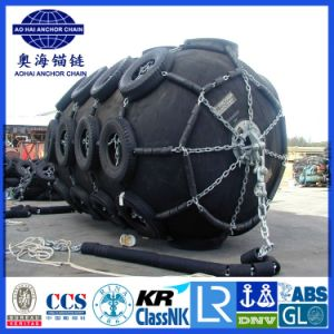 3.3*6.0m Ship Marine Pneumatic Yokohama Fender with Tyre Net pictures & photos