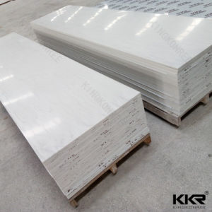 Glacier White Corian Solid Surface for Shower Wall Panel pictures & photos