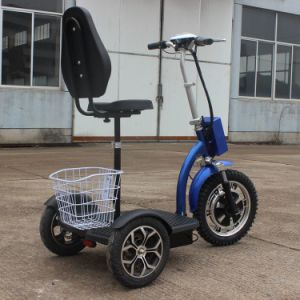 500W Foldable 3-Wheel Electric Mobility Scooter with Basket E-Scooter pictures & photos