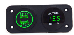 Hot! 12V Waterproof Car Socket & Voltmeter pictures & photos