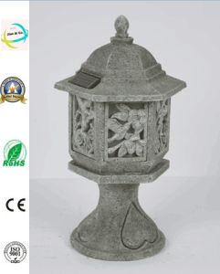 Polyresin Antique Palace Lantern with Solar Lighting Polyresin Outdoor Decoration pictures & photos