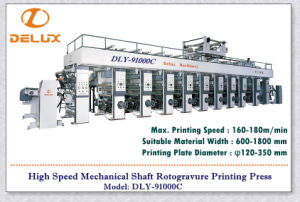 9 Colors, High Speed Computerized Rotogravure Printing Press (DLY-91000C) pictures & photos