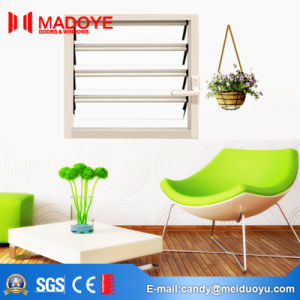 White Manual Shutters with Glass Louver pictures & photos