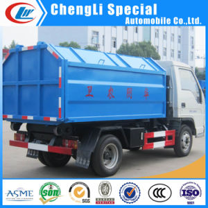 Mini 3tons Foton Rear Hydraulic Hooklift Garbage Truck for Sale pictures & photos