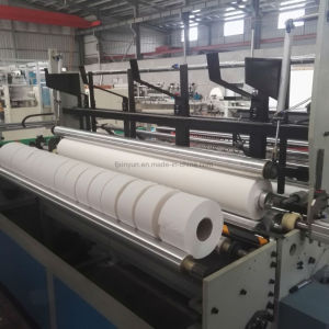 Maxi Roll Toilet Paper Sliting Rewinding Making Machine pictures & photos