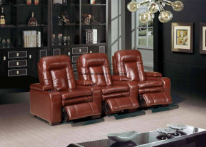 Modern Leather Electronic Recliner Sofa (YA-606A) pictures & photos