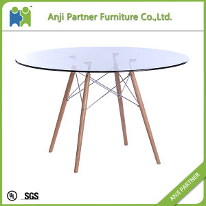 Tempered Glass Top with Beech Wood Base Bar Table (Darlene) pictures & photos