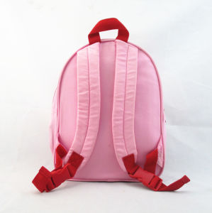 Kids School Bag Pink Snowmen Backpack pictures & photos