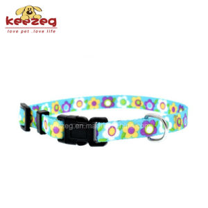 New Style Transfer Printing Nylon Dog Cat Collars /Leash Separate Matching (KC0096) pictures & photos