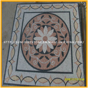 Cheap Natural Travertine & Marble Stone Mosaic Pattern for Floor Decoration pictures & photos