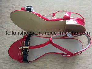 Women Fashion High Heels Shoes Outdoor Summer Sandals (FFSD-03) pictures & photos