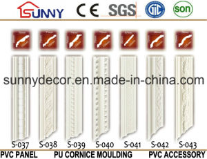 Factory Price PU Cornice and Coving/ Polyurethane Plain Cornice Molding for Decoration pictures & photos