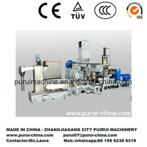 Twin Screw Extruder with Side Force Feeder for Film Scraps pictures & photos