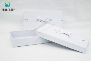 Elegant Pure White Embossing Paper Printing Packaging Gift Box pictures & photos