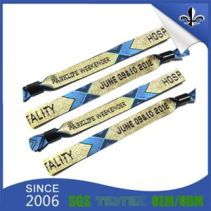 Custom Special Polyester Material Printing Satin Wristbands for Event pictures & photos