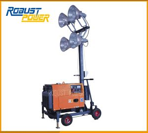 Mini Fuel Capacity 15L Floodlight Tower with Air-Cooled pictures & photos